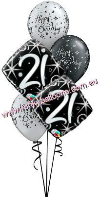 21st Elegant Sparkles Swirls Bouquet