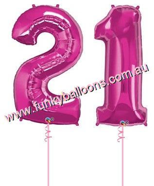 21st Birthday Funky Balloons Adelaide SA Balloon Gift