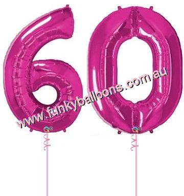 60th Birthday Funky Balloons Adelaide SA Balloon Gift