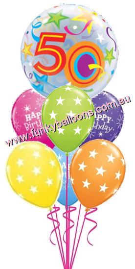 50th Birthday Funky Balloons Adelaide SA Balloon Gift